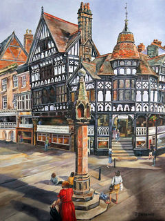 Chester Town Square, England